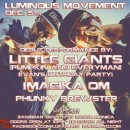 Dec. 5th – LUMINOUS MOVEMENT feat. LITTLE GIANTS [Pumpkin + EVeryman] + Imagika Om, & Phunky Brewster