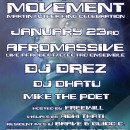 Jan. 23rd – Luminous Movement feat. AfroMassive, Dj Drez, & Dj Dhatu